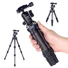 [carbon fiber]tripod tube is made of high-density carbon fiber, which greatly reduces the weight of the product. To ensure good loading capacity. [MINI] Stretching height 15.7 inches / 398mm, shrinking height 9.65 inches /245mm, shrinking diameter 1....