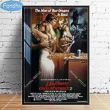 MHHDD Cartel de Arte póster de película de Terror clásico e impresión Lienzo de Arte de Pared...