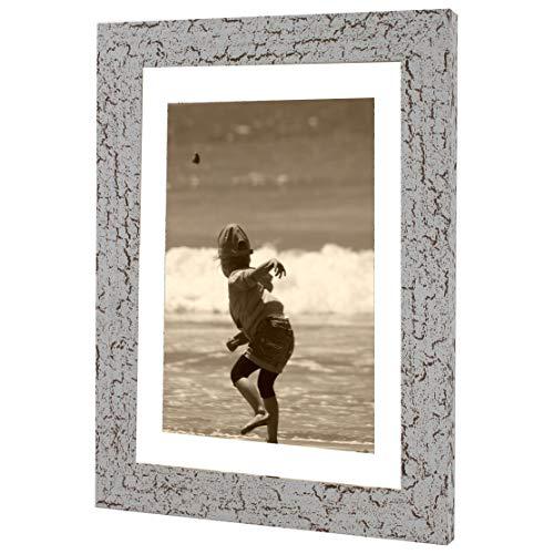 Bilderrahmen Fotorahmen 60x60 cm Antik bilderrahmen zum aufhängen MDF Picture Frames Farbe und 40 Verschiedene Größen wählbar ohne Passepartout Rahmen Ayleen