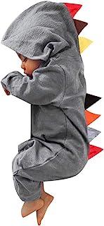 Transwen Baby Babykleidung,Transwen Neugeborenes Baby Jungen Mädchen Dinosaurier Reißverschluss mit Kapuze Spielanzug Strampler Overall Ausstattungs Beiläufig Kleidung