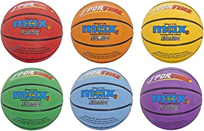 Sportime SportimeMax Basketballs - Women's and Intermediate Size, 28 1/2 inch - Set of 6 Colors