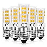 Bombilla LED E14, LOHAS Blanco cálido 3000K, 5W Repalce para bombillas halógenas de 40W, 450LM, 230V, Base E14, Tornillo Edison pequeño no regulable, Ideal para iluminación del hogar, paquete de 5