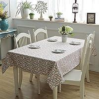 テーブルクロス 現代のミニマリストの綿デュアル縦糸横糸デュアル厚いキャンバスは、花のティーテーブルクロステーブルクロスを残し (Color : 8, Size : 140X220CM)