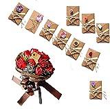 10 Pcs Biglietto di Auguri con Buste Decorato Cartolina di Carta Kraft di Lettera Cartonci...