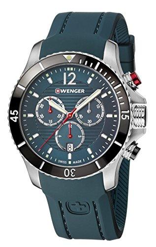 WENGER Herren Armbanduhr Analog Quarz Silikon 01.0643.114