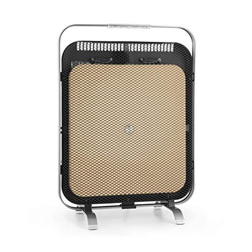 Klarstein HeatPal Marble Blackline Infrarot-Heizung mit Thermostat - mobiles Heizgerät, Standheizgerät, 1300 Watt, Räume bis 30 m², Wärmespeicherfunktion, Marmorplatte, Aluminium, silber