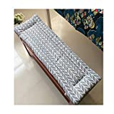 Yzzlh <span class='highlight'>Non</span>-<span class='highlight'>Slip</span> Bench Cushion with Tie,Swing 2 or3 <span class='highlight'>Seat</span>er Bench Mat Pad Replacement Mattress Travel <span class='highlight'>Seat</span> Pad Indoor Outdoor,3cm Thick,Washable (M,120x30cm)