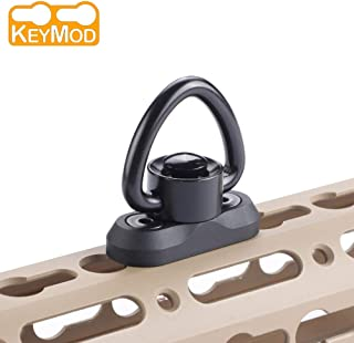 Keymod QD Sling Swivel Sling Mount - Gun Sling Mount for Keymod Rail, Sling Swivel 1 Inch, Rifle Sling Attachment Adapter with Quick Release Button(for Two Point Sling) (Black)