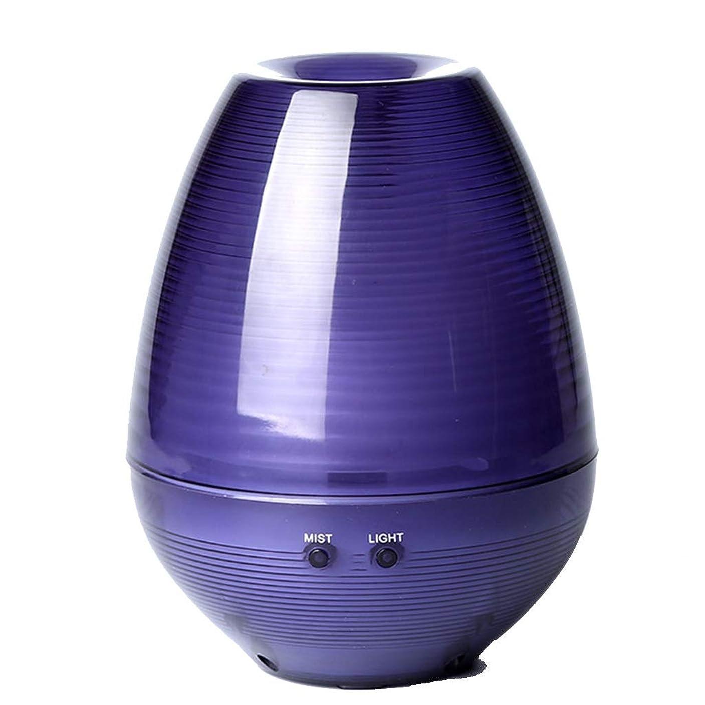 あなたが良くなります壁タールアロマセラピーエッセンシャルオイルディフューザー、アロマディフューザークールミスト加湿器ウォーターレスオートシャットオフホームオフィス用ヨガ (Color : Purple)
