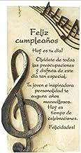 Framan PERGAMINO DE Piedra LABRADA con Textos para Ocasiones Especiales, Original Y ECONÓMICO. Feliz CUMPLEAÑOS