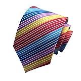 Wristchie mens arcobaleno striscia 100% seta tie cravatta cravatte