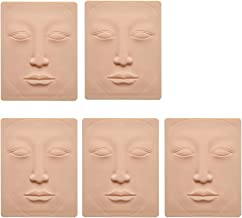 Tattoo Skin Practice 5pcs 3D Microblading Practice Skin For Face Permanent Makeup Face Silicone Skin Tattoo Training by Micro-Blading And Needling,Fake Skin Sheets For Beginners