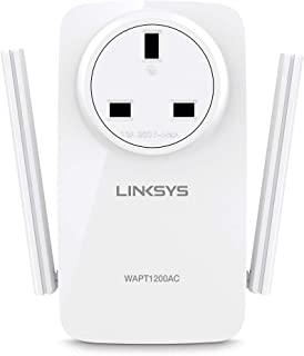 Linksys WAPT1200AC WiFi Access Point (AC1200 Simultaneous Dual-Band, Beamforming Technology, Gigabit Ethernet Port, Pass-T...