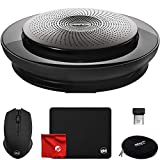 Jabra Speak 710 Wireless Portable USB and Bluetooth Speaker for Softphone and Mobile Phone (7710-809) Bundle with Circuit City 2.4GHz Wireless Optical Mouse, Thin Mouse Pad and Microfiber Cloth