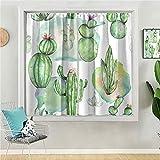 Cortinas opacas para ventana de 160 cm de largo, cortinas opacas para habitación de niñas, león Albino sobre un fondo de hierba verde en el zoológico