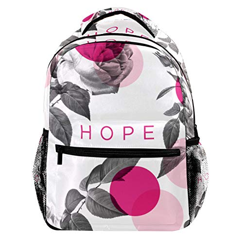Flower and Hope Laptop Backpack for Men School Bookbag Travel Rucksack Daypack School Bag for Women Girls