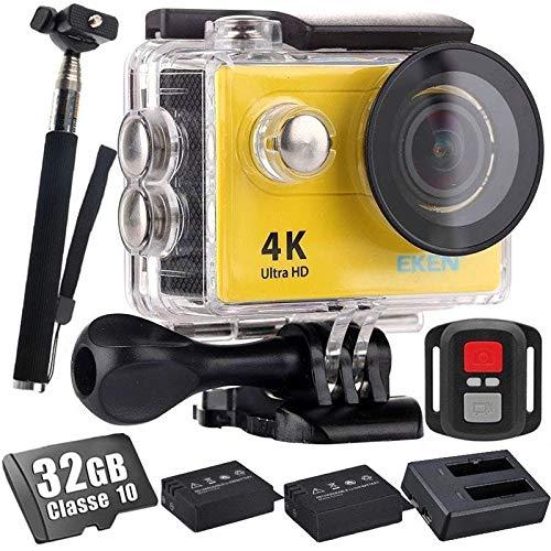 Camera Eken H9R 4K 32Gb Bastão Carregador+2 Bateria