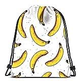 Lmtt Kordelzug Rucksack Taschen Banane Modern Tropical Print Faltbare Cinch Bag Taschen