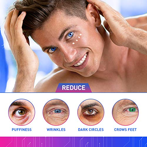 51K7Tgss4JL - Eye Cream for Men, Natural and Organic Anti Aging Eye Cream To Reduce Puffiness, Wrinkles, Dark Circles, Crows Feet and Under Eye Bags 2oz by LUXOL