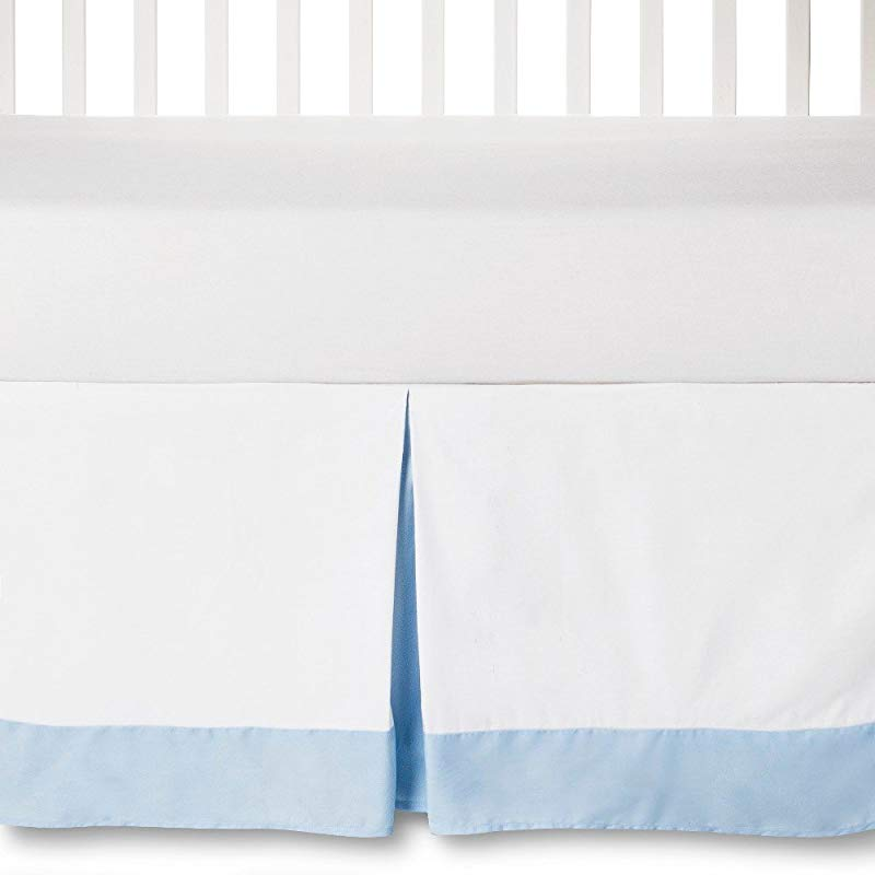 Circo Craft 100 Cotton Pleated Baby Crib Bed Skirt Blue White