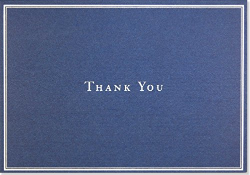 Navy Blue Thank You Notes (Stationery, Note Cards, Boxed Cards)