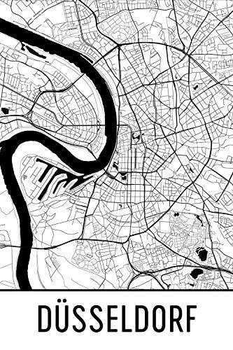 Modern Map Art Düsseldorf Print, Dusseldorf Art, Düsseldorf Kaart, Düsseldorf Duitsland, Düsseldorf, Dusseldorf Wall Art, Dusseldorf Gift, Dusseldorf Decor, Dusseldorf Scape zwart en wit 12