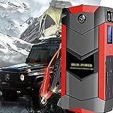 GGMWDSN Arrancador de Baterias de Coche 12 V, Paquete de Refuerzo de BateríA de AutomóVil, Cargador de Banco de EnergíA USB y Cables de Puente para Motores DiéSel de hasta 6,0 litros y 4,0 litros