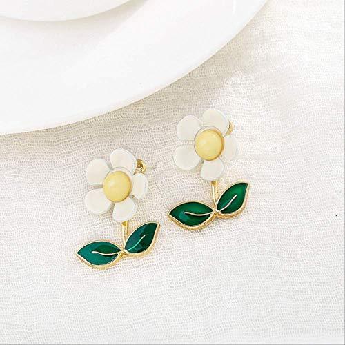 Sieraden Voor VrouwenPlant Acryl Vrouwen Oorknopjes Kleine Verse Zonnebloem Groene Bloem Oorbellen Sieraden Dames AccessoiresBeige
