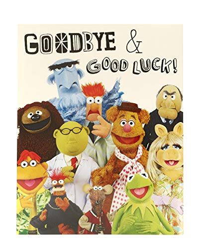 Good Bye Card - Good Luck Card - Sorry You're Leaving Card - Fun Disney Muppets Design