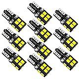 AUXITO T10 LED ホワイト 爆光 10個 LED T10 車検対応 2835LEDチップ14連 12V 車用 ポジション/ライセンスランプ/ナンバー灯/ルームランプ 1年保証