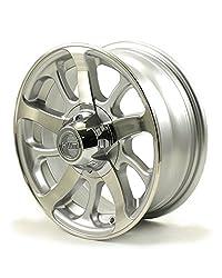 powerful HWT 855545 15X5 5 / 4.5 Aluminum Series 08 Trailer Wheel