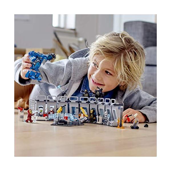 LEGO76125SuperHeroesIronMan:SaladeArmaduras,JuguetedeConstrucciónconColeccióndeTrajesdeCombatedeTonyStark