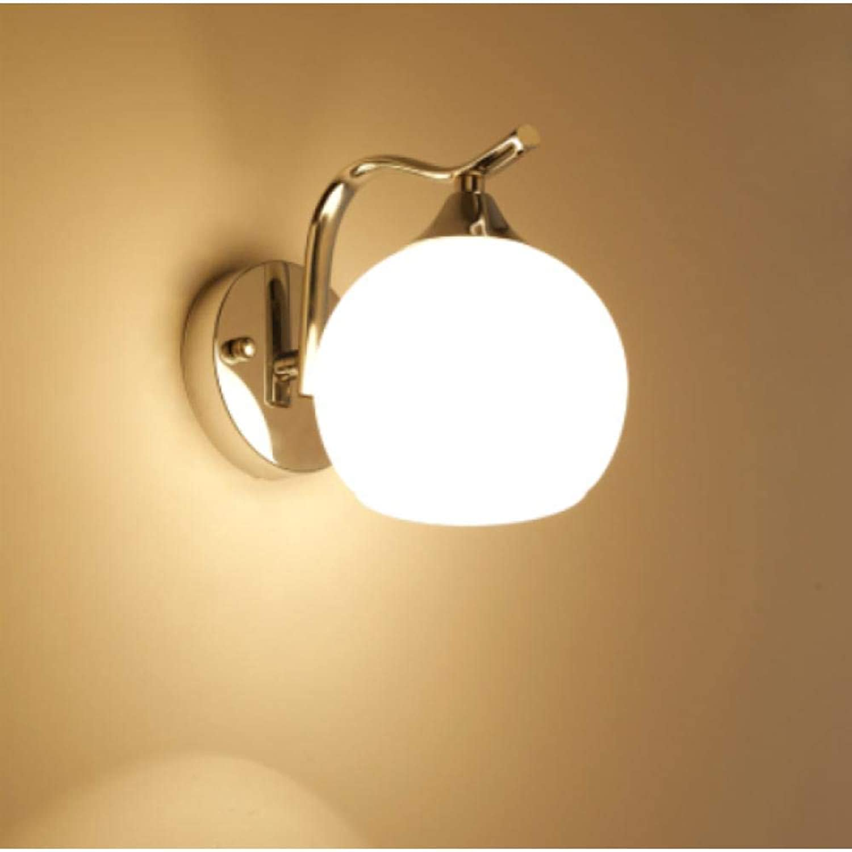 3D Nachtlicht Einfache Wandleuchte Einfache Nachttischlampe Wohnzimmer Schlafzimmer Flur Gehweg Treppe Dekoration Lampe @ Silber 7W