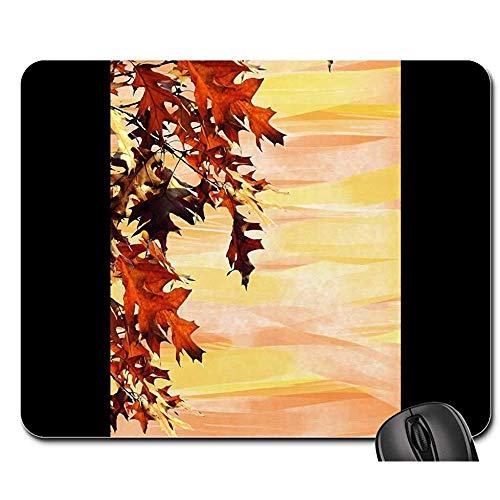 Silikon Gel Handauflage Mouse Mat - Mausunterlage - Herbst-Hintergrund-Blätter Tauchen Briefpapier 1 Auf