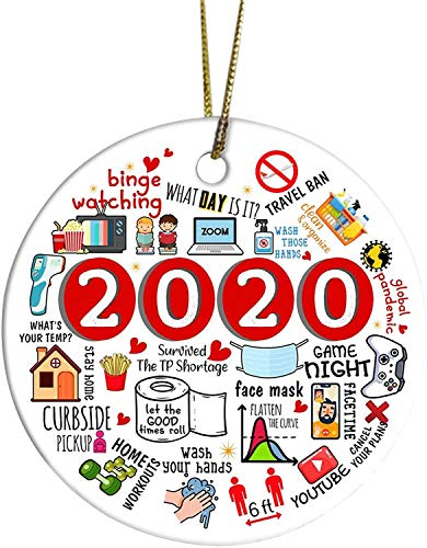 BAOTWO 2020 Annual Events Christmas Ornament - Pandemic Ornament Personalized Handmade Christmas Decorations Sale - Family Christmas Tree Hanging Pendant Holiday Home Decor Keepsake Xmas Gift