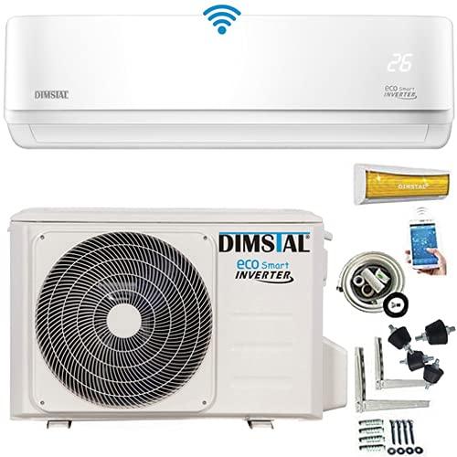 Climatizzatore INVERTER A++/A++ Split Climatizzatore ECO Smart WLAN/WiFi Set completo con cavi in rame da 3 m e funzione di riscaldamento [Classe energetica A++] (3,5 kW/12000 btu)