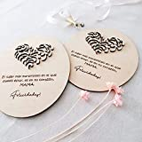 Tarjeta para regalar en el día de la Madre, Tarjeta especial de cumpleaños para mamá, Tarjeta de felicitación de madera 3D con hermoso corazón en relieve, el mejor regalo para el día de la madre