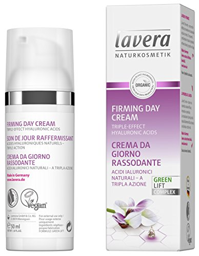lavera Straffende Tagescreme Karanja ✔ Anti-Age ✔ Hyaluronsäure ✔ Spendet Feuchtigkeit & reduziert Falten ✔ Vegan ✔ Bio Hautpflege ✔ Natürliche & innovative Kosmetik (50 ml)