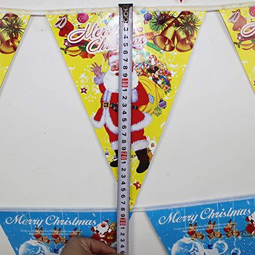 ETbotu Weihnachtsdekorations Flagge,für Einkaufszentrum-hängende Anordnung Gelber Papierwimpel
