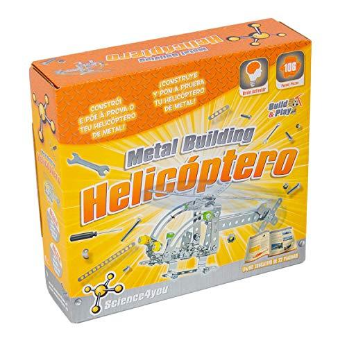 Science4you-Metal Metal Building Helicptero Juguete Cientfico y Educativo Stem para Nios +8 Aos (480572)