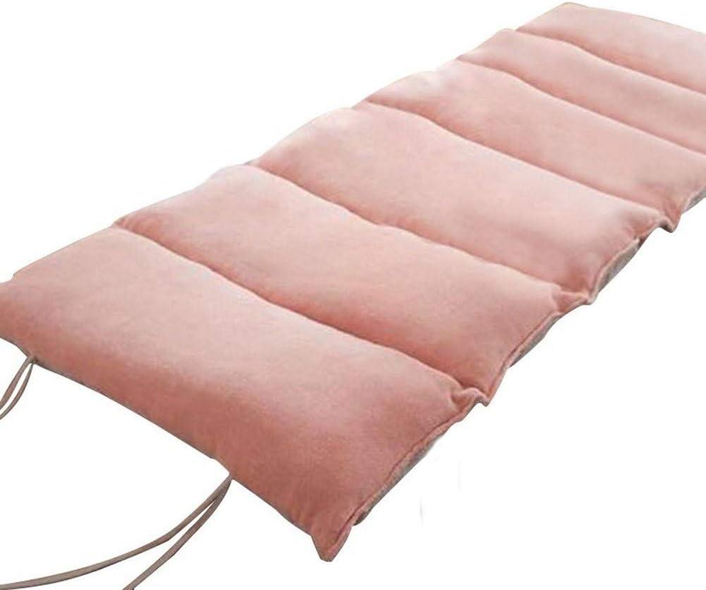 QLIGHA Cojín de Descanso al Aire Libre Rectangular portátil Plegable de la Siesta de los niños Rosa 73 × 160cm