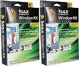 Duck MAX Strength Heavy Duty Insulating Film Window Kit, 3-Window, 62-Inch x 126-Inch, Indoor, 284351 2 Pack