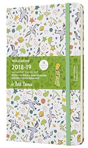 Moleskine Wochen Notizkalender, Der Kleine Prinz, 18 Monate, 2018/2019, Large/A5, Hard Cover, Weiß Gemustert