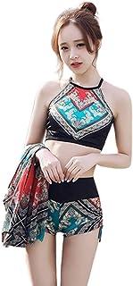 ビキニ [Marshel] 3点セット レディース 体型カバー セパレート型 羽織付 水着 M-XLサイズ