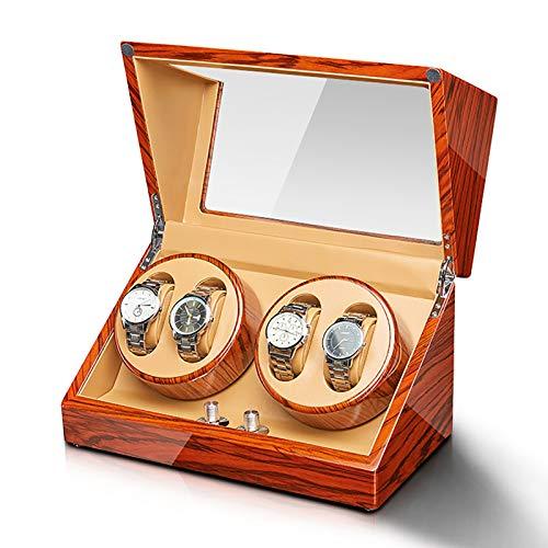 Guarda Winder Watch Windrs - Ebanizzato Wood Watch Windows Box Automatico Meccanico Orologi meccanici Avvolgitori Avvolgitori Domestici Singolo Agitali Shaker Hookes Box con controllo Accesso .Belliss