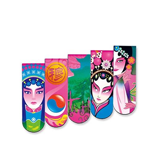 KEHUITONG Segnalibri magnetici di moda, segnalibri di arte classica creativa Facebook, set regalo in stile cinese, coltelli personalizzati, segnalibri segnalibri da ufficio, (Color : A1)