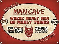 男らしい男性錫サイン壁の装飾金属ポスターレトロプラーク警告サインオフィスカフェクラブバーの工芸品
