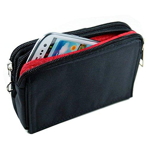 andyhandyshop Quer Handy Tasche Gürteltasche Portemonnaie für Smartphone simvalley Mobile SPX-34
