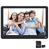 Digital Picture Frame 10.1 Inch 1920x1080 Motion Sensor 16:9 IPS Screen, Photo Auto Rotate, Auto Turn On/Off, Auto Play Photo/Video/Music, Background Music, Digital Video Frame, Include 32GB SD Card