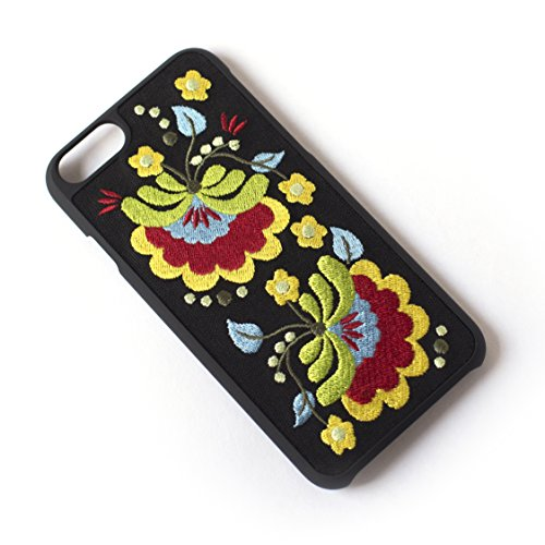 Tech Candy Better Off Thread Embroidered iPhone 6 iPhone 7 iPhone 8 Phone Case Protective Durable Pretty Designer Girls Teenagers Womens Shock Absorbing Beautiful Floral Gorgeous Black Yellow Red Blue